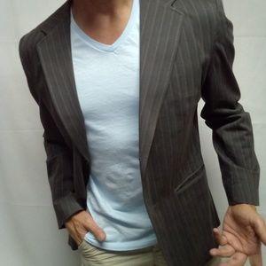 Large gap slim fit denim jacket Blazer vintage